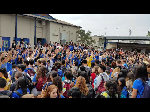Valencia High School AP Calculus Flashmob (raw cut) 2017 Zumba Firehouse