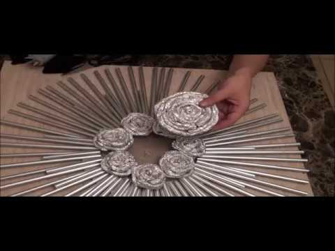 drinking straw and foil decorative wall art video clip youtube