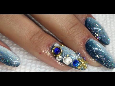 Under The Sea Gel Nails Ft Noq Polish