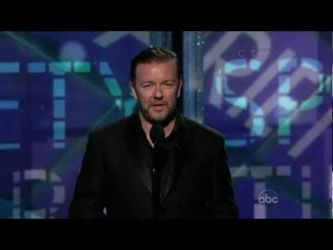 Ricky Gervais scherza con Louis C.K. agli Emmy Award 2012 (sub ita)