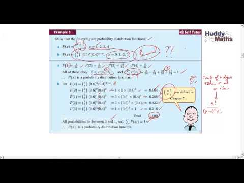 Probability Distributions of Discrete Random Variables Part 1