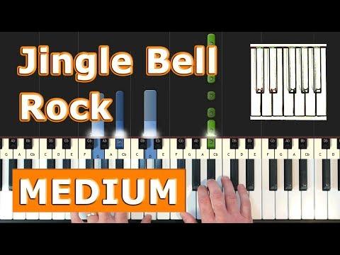 Jingle Bell Rock - Piano Tutorial Easy - Sheet Music (Synthesia)