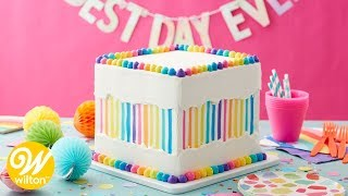 How to Make a Rainbow Stripe Faultline Cake | Wilton