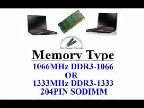 Compatible RAM Memory Upgrade Specifications For Dell Alienware M11X Laptop Computer DDR3 1333