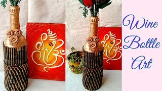 Bottle Art for Beginners/Bottle Decoration/wine Bottle Decor /Bottle Art