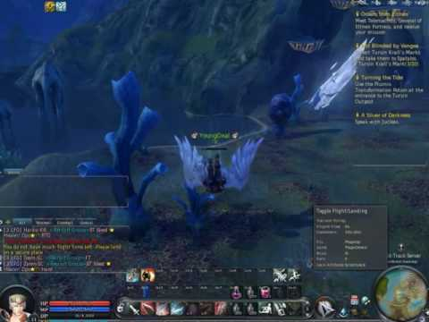 Aion - Playing the Good Angel, Flying around