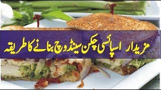 spicy chicken sandwich recipe in urdu | ramzan recipe in urdu | recipe in urdu | kashif tv