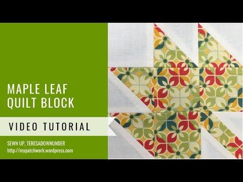 Maple leaf quilt block - Mysteries Down Under quilt