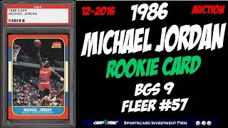 3 1986 Michael Jordan Fleer #57 rookie Cards. Graded BGS 9