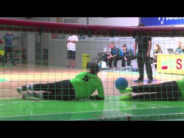 Lithuania Czech Republic Men Bronze game IBSA Goalball European Championships Lithuania 2015 07 11 6