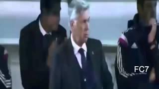 Carlo Ancelotti imitate celebration Cristiano Ronaldo Eibar vs Real Madrid 22/11/14 HD