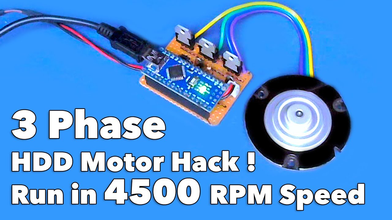 3 Phase HDD    Motor    Run in 4500 RPM    Speed    Using Arduino