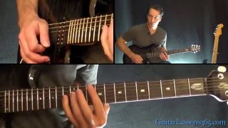 Killing in the Name Guitar Solo Lesson (No Whammy) - Rage Against the Machine