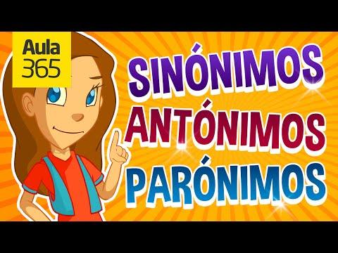 Sinónimos, Antónimos Y Parónimos | Videos Educativos Para Niños
