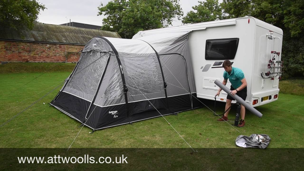 How To Pitch A Inflatable Drive Away Awning Tutorial Video