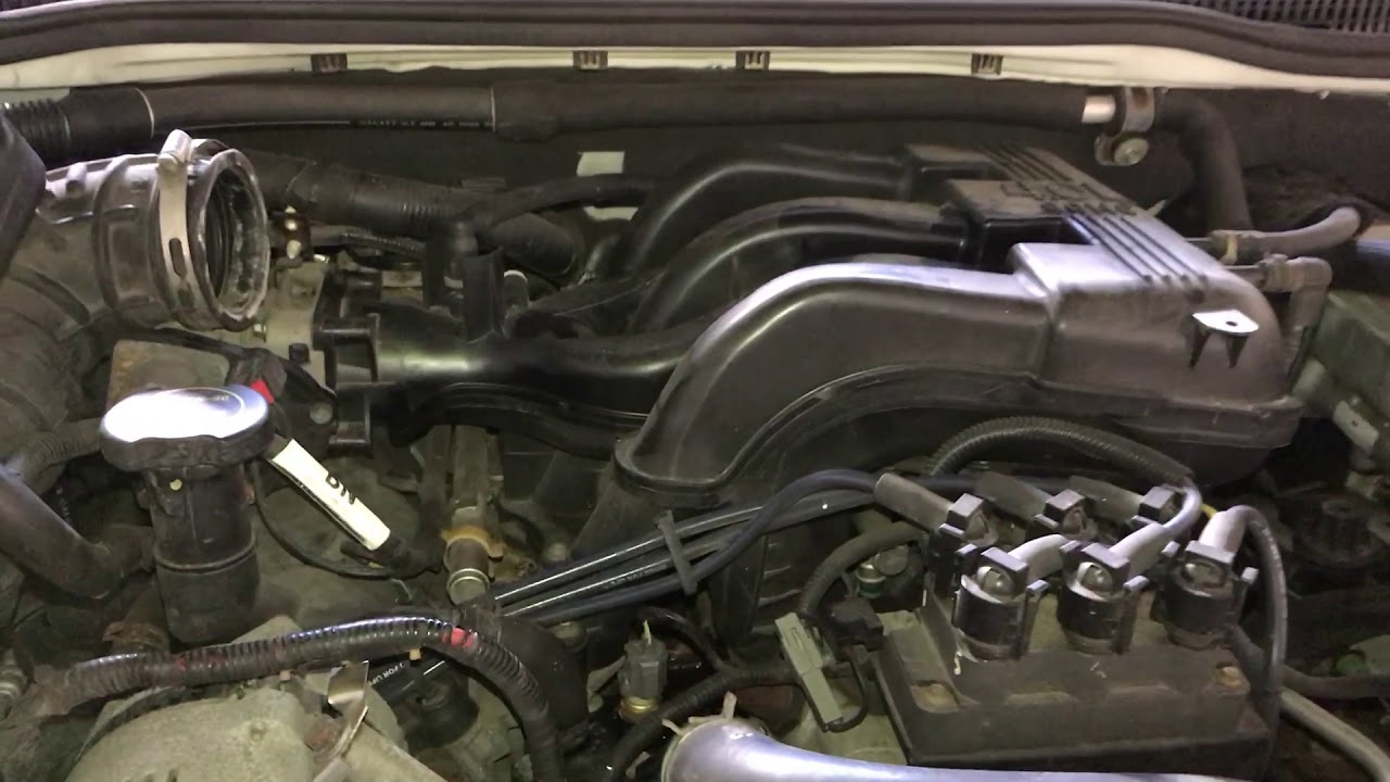 clean the throttle body of a ford explorer 3006 2007 2008 2009 2010 [ 1280 x 720 Pixel ]