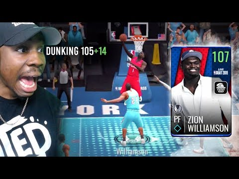 107 OVR ZION WILLIAMSON POSTER DUNKING! NBA Live Mobile 19 Season 3 Ep. 115