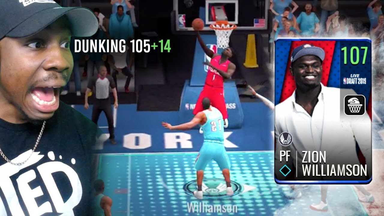 107 Ovr Zion Williamson Poster Dunking Nba Live Mobile 19