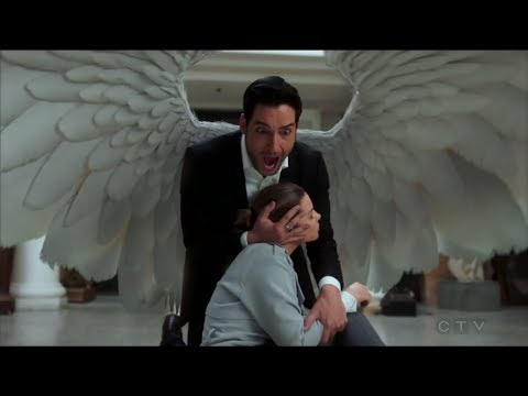 LUCIFER SEASON FINALE - LUCIFER SAVES CHLOE WITH HIS WINGS