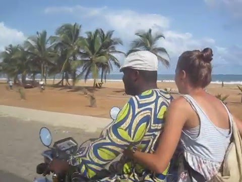 Cruising on a Motor Bike in Lome, Togo