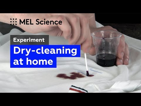 """How to remove inks with vinegar and hydrogen peroxide (""""Dry-cleaning"""" experiment)"""