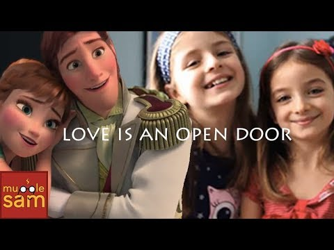 LOVE IS AN OPEN DOOR - Frozen 🎵 10-Year-Old Sophia and 8-Year-Old Bella
