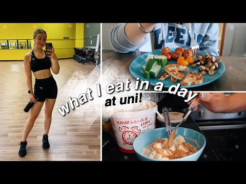 what I eat in a day at uni! | getting back into the gym