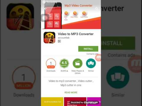 How to convert video to mp3 by app