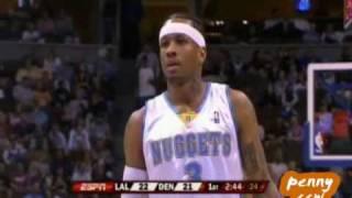 Allen Iverson 51pts 8asts vs Kobe Bryant Lakers 07/08 NBA