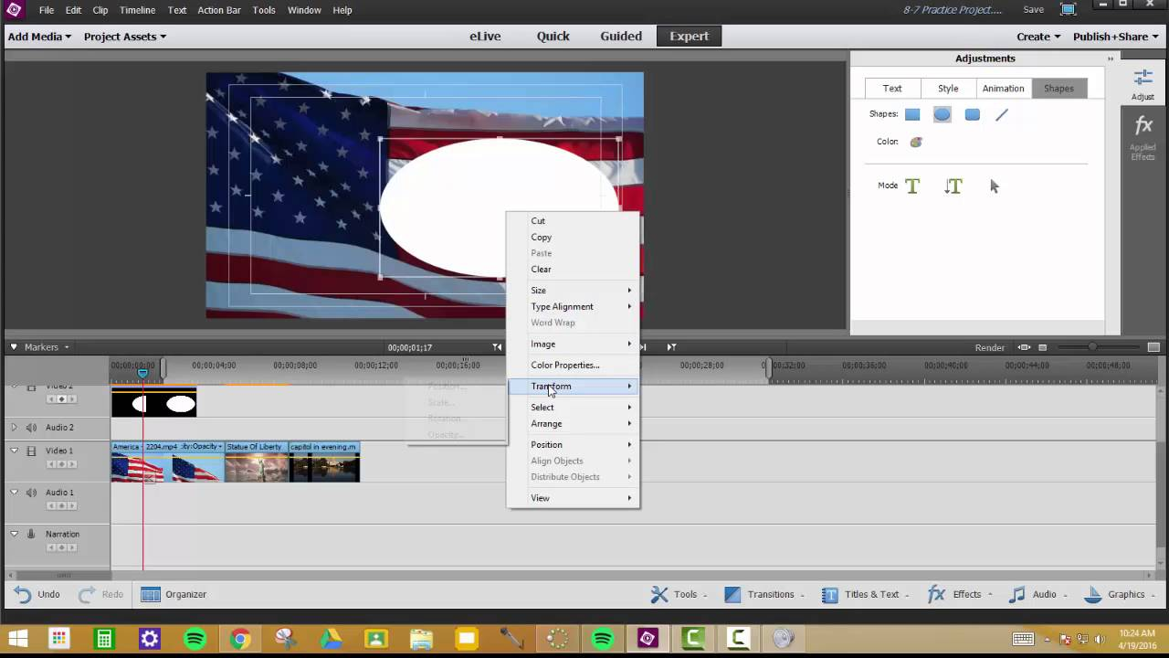 Changing text or shape opacity in adobe premiere elements youtube changing text or shape opacity in adobe premiere elements ccuart Image collections