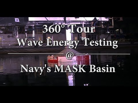 360° Video: Wave Energy Testing at the Navy's MASK Basin