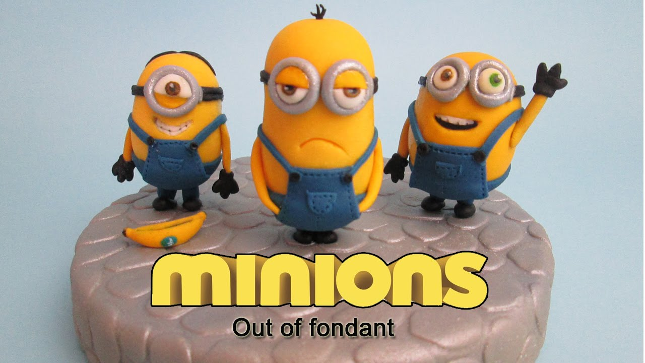How To Make Minions Out Of Fondant Cake Topper Youtube