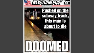 Horrifying! New York Post Cover Shows Man About To Die | NewsBreaker | Ora TV