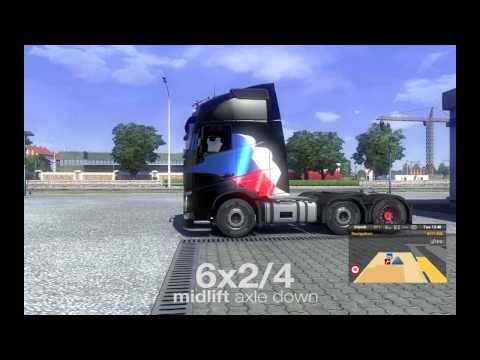 ETS2 – Turning radius tests (all basic chassis types)