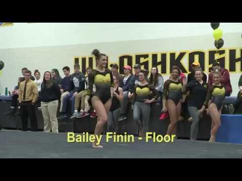 UW-Oshkosh Gymnast Bailey Finin - Floor