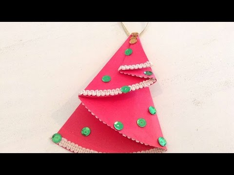 How To Make A Christmas Card With Children - DIY Crafts Tutorial