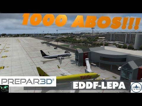 1000 DANK!!! | TUI8JW EDDF - LEPA | P3D V3.3 [HD|German]
