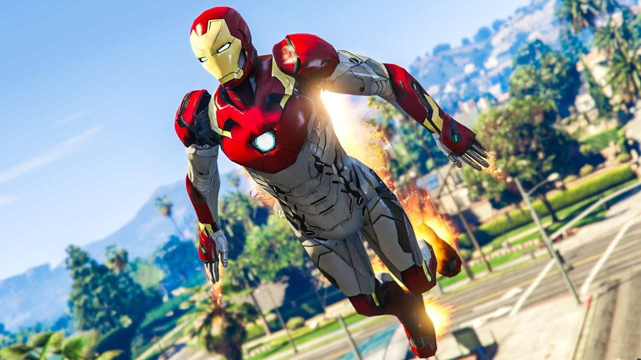 INSANE IRON MAN MOD! - (GTA 5 Avengers: Infinity War Mods)