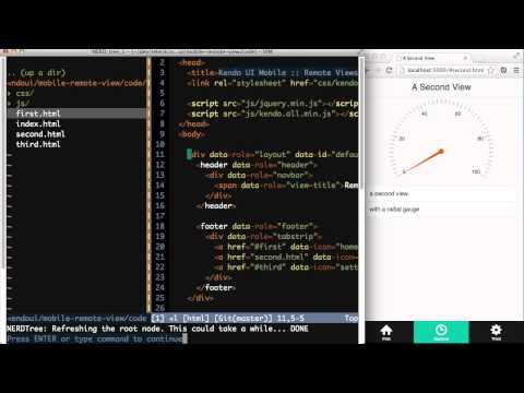 Kendo UI Mobile: Remote Views Demo