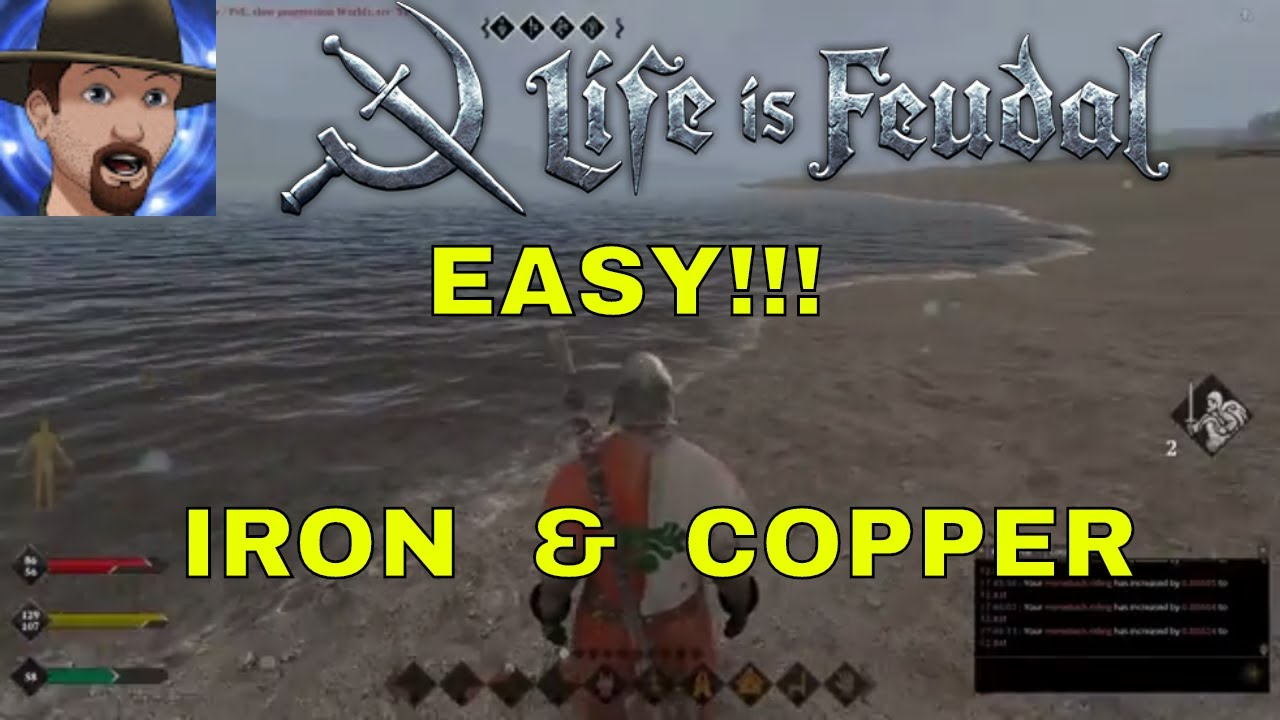 WHERE TO FIND IRON AND COPPER SUPER EASY!- SOLO LIFE IS FEUDAL MMO #13