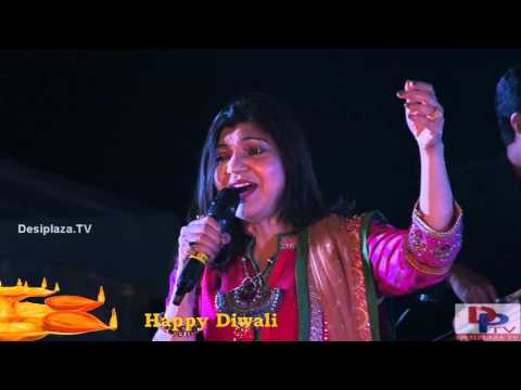 Alka Yagnik singing Koi Rok Sake To Rok Le song at DFWICS Diwali Mela 2015 at Dallas.