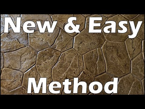 Stamped Concrete Floor   DIY
