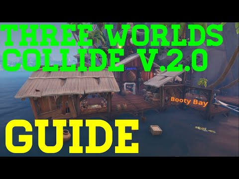 How To Complete Three Worlds Collide V.2 By LotusCracker - Fortnite Creative Guide