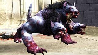 God of War 2: Mole Cerberus Boss Fight (4K 60fps)