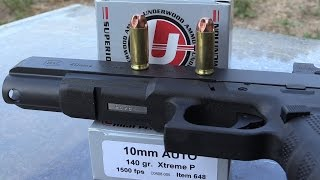 GLOCK 40 10mm and UNDERWOOD EXTREME PENETRATORS VS BULLETPROOF GLASS