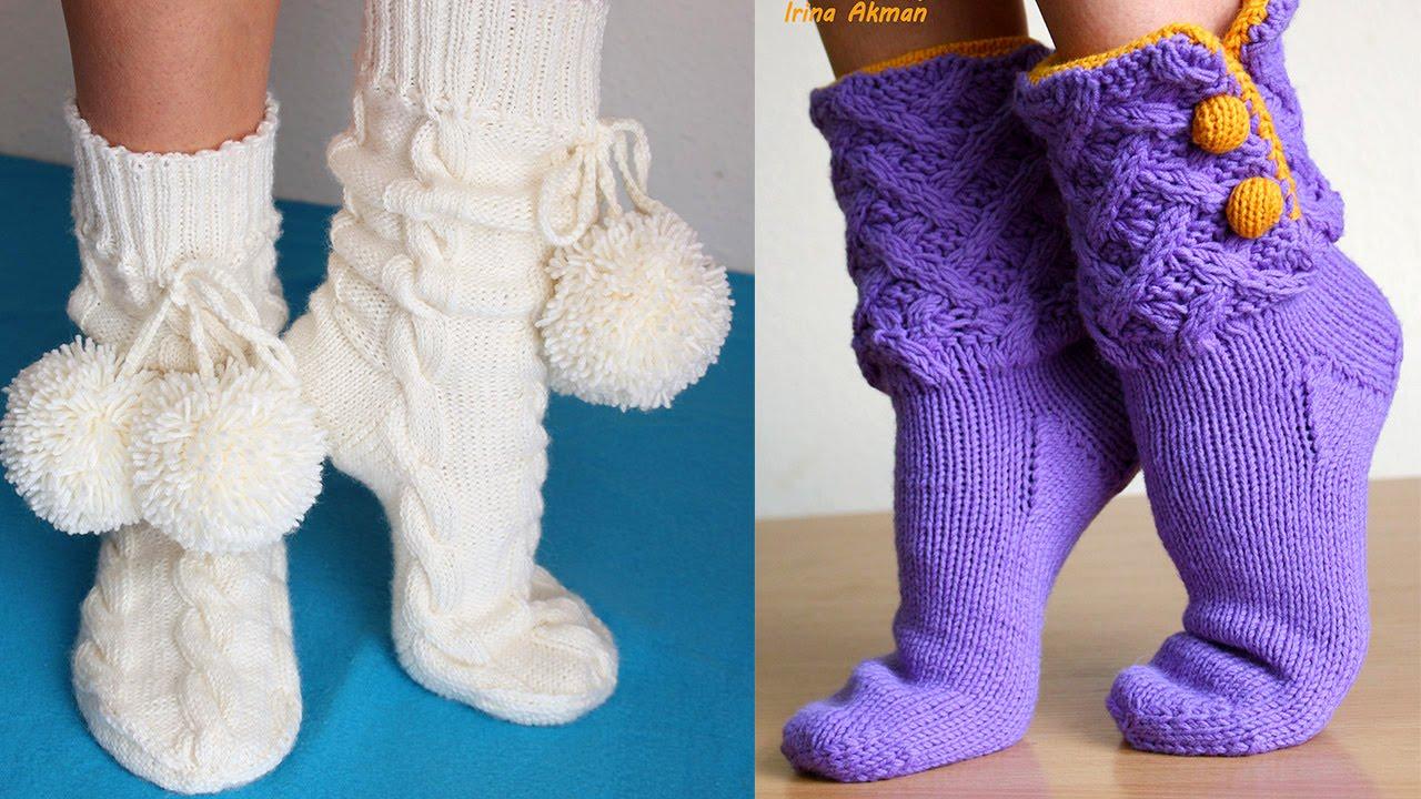 укороченные женские носочки пошаговое вязание
