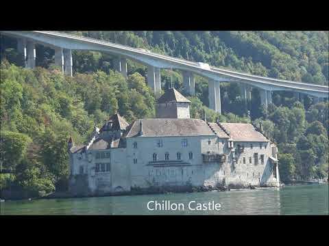 Chillon Castle via Ship La Suisse, Montreux Switzerland
