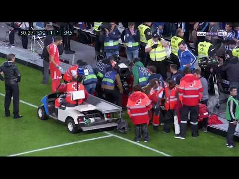 CAMERA MAN Injury : REAL MADRID vs SOCIEDAD