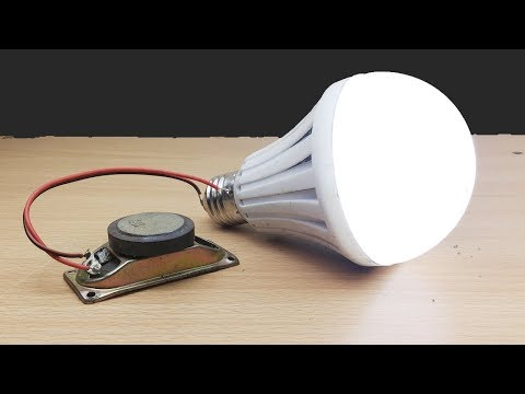 Electric Science at home , Energy Easy make With Magnet Speaker light 2019