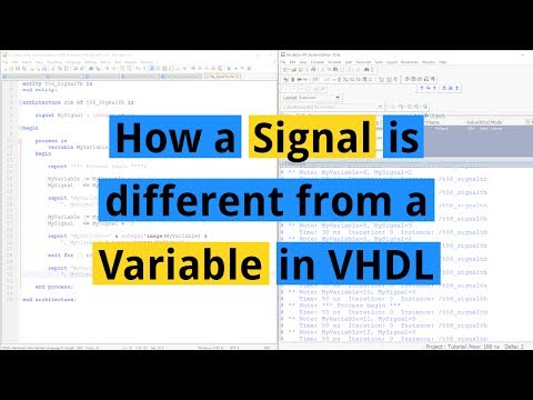 How a Signal is different from a Variable in VHDL
